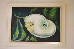 Flower with butterfly - ArtNikolaeva