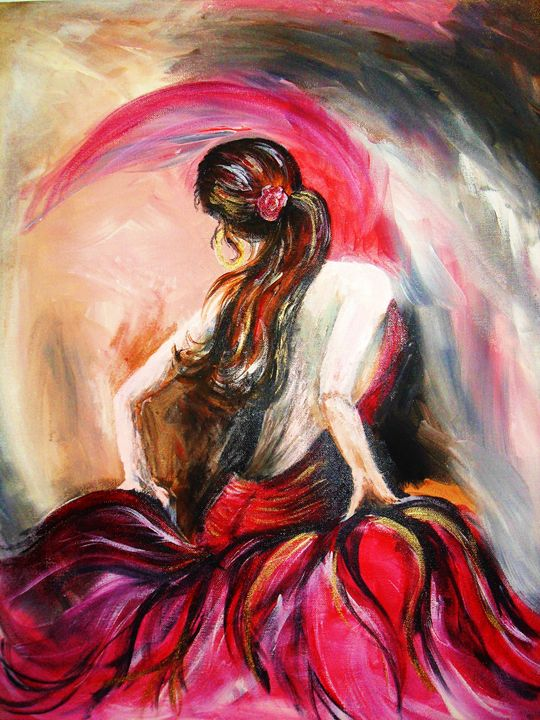 dancer in red - A Touch of Canvas