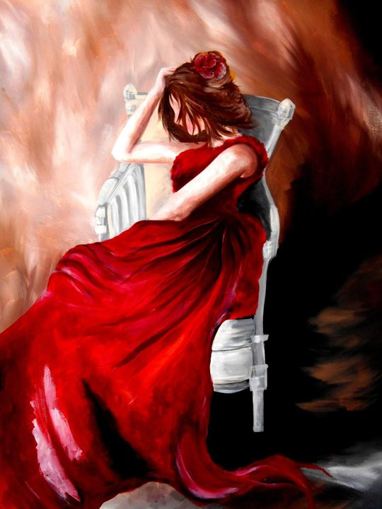 the red dress - A Touch of Canvas