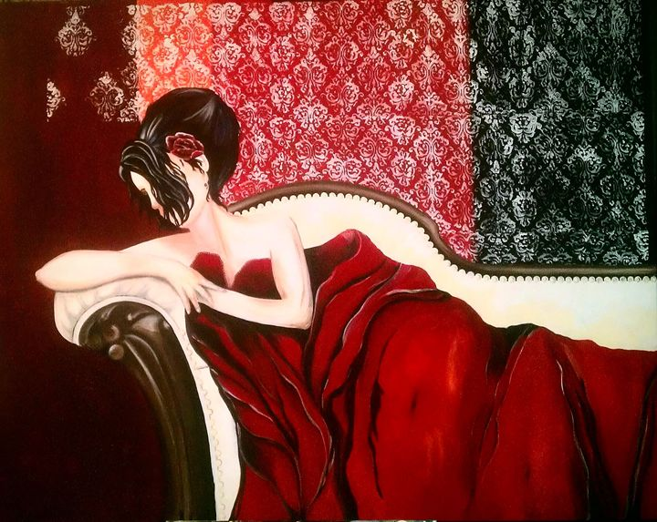 the red blanket - A Touch of Canvas