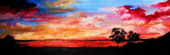 rainbow sky - A Touch of Canvas