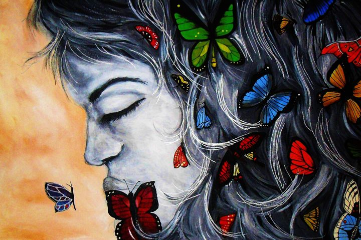 butterfly dreaming - A Touch of Canvas