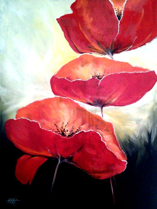 sweet poppies - A Touch of Canvas