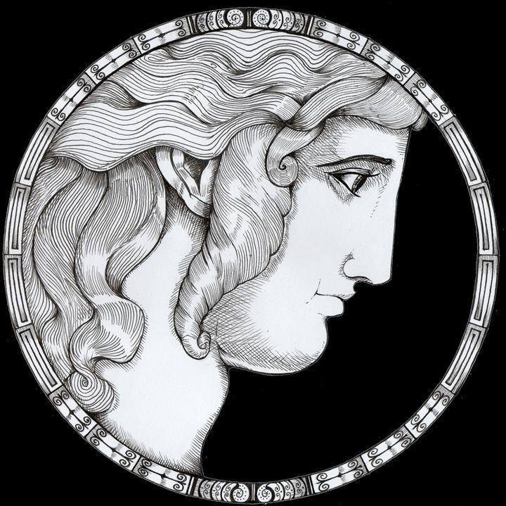 Hellene face ornament - Nikolaos