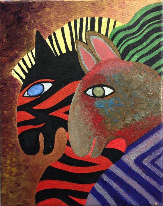 Horses 3 - Fine Art by Anastasia Dorokhov