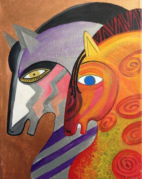 Horses 2 - Fine Art by Anastasia Dorokhov