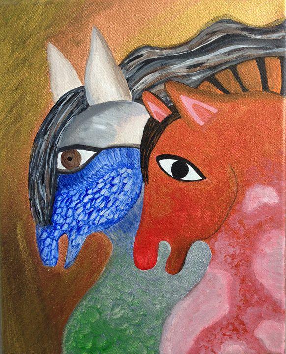 Horses 1 - Fine Art by Anastasia Dorokhov