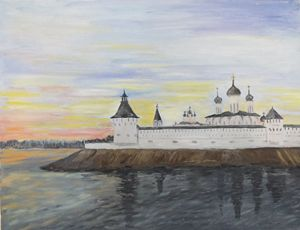 Monastery on Volga River