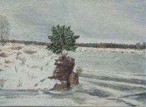 Tree ashore 12x9 inch 30.5x 23 cm
