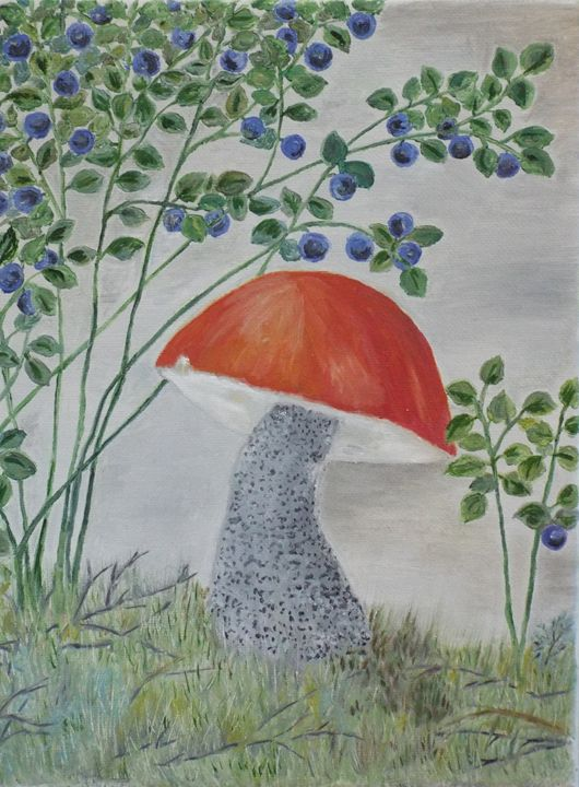 Mushroom and blueberry - Marina C