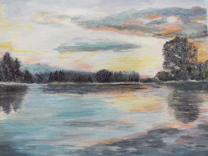 Sunset on the river - Marina C
