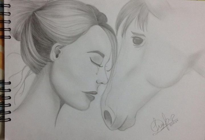 Girl and horse - Diana
