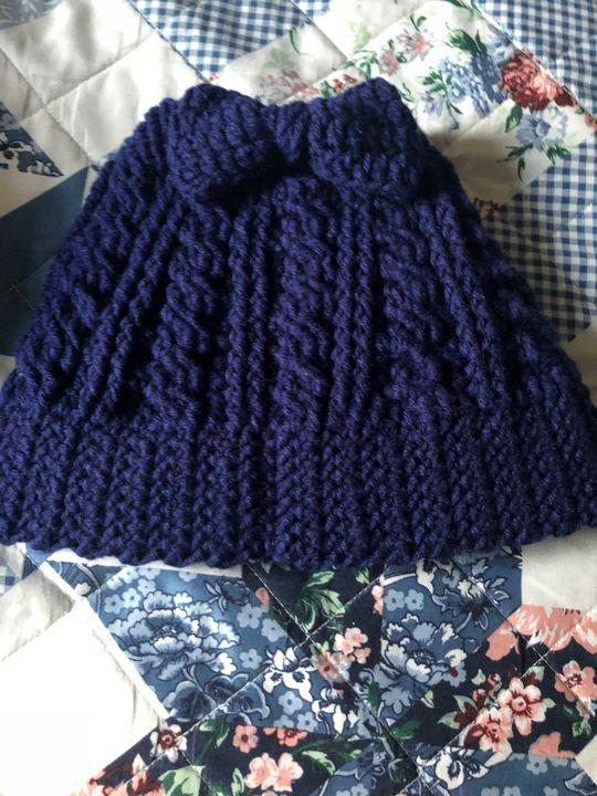 Crochet messy beanie bun bow - Fine Art and Crochet