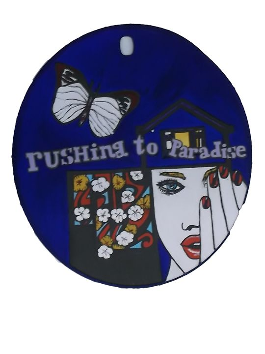rushing to Paradise - narrative painting