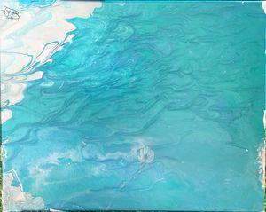 drifting jelly fish
