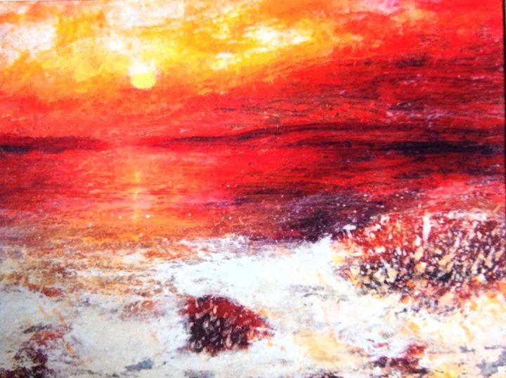 Oban bay sunset - Gwendolyn fleming
