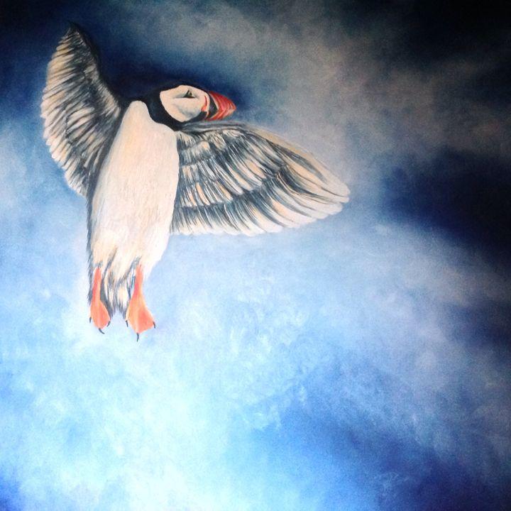 Angelic puffin - Gwendolyn fleming