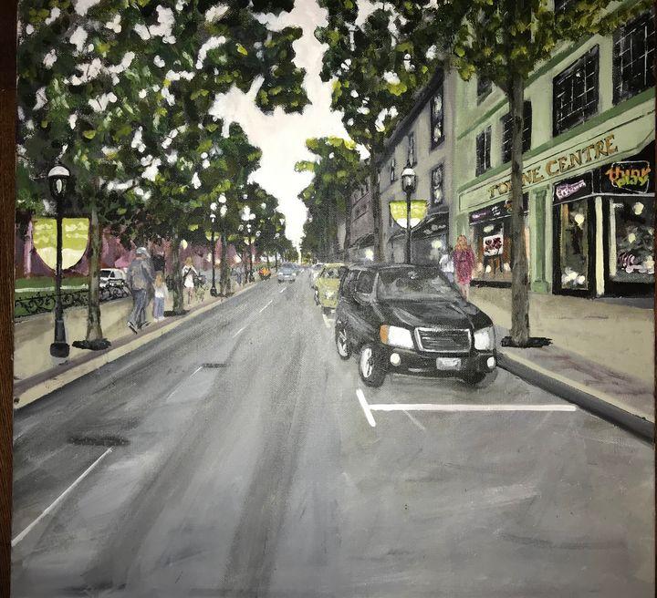 A Look Down Queen St. - Lindsey MacKay Art