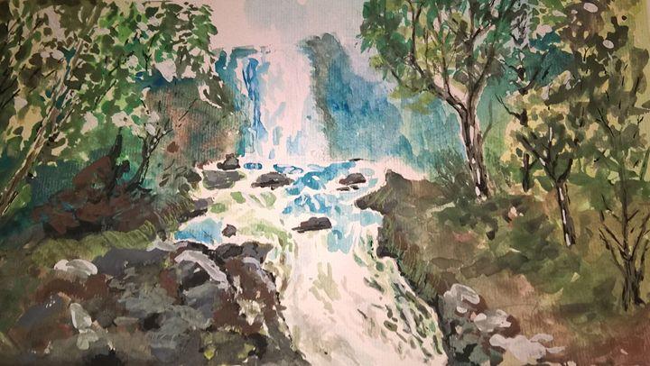 Waterfall scene - Art Edin S