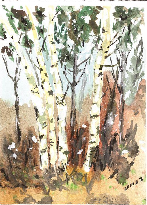 Silver birch emotions - Art Edin S