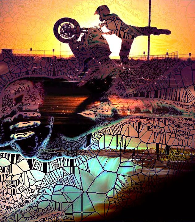 Wheelie Art - Shattered Pop up - Wheelie Art by Amanda Puggle