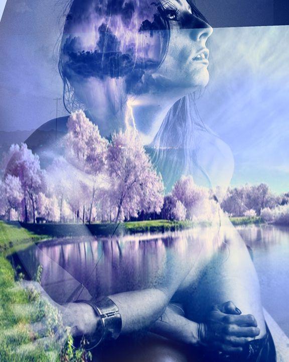 Girl in Reflection - Wheelie Art by Amanda Puggle