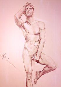 Original nudes art, gay art interest