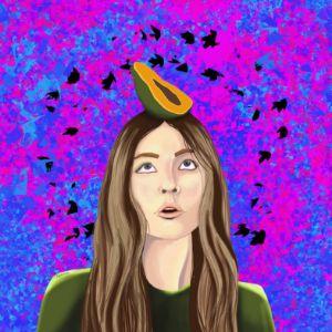 Girl with papaya - agata_kaja
