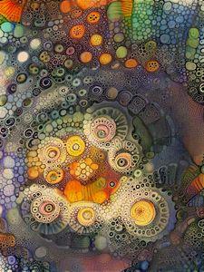 Colorful Abstract Circular Pattern
