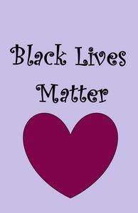 Black Lives Matter Lavender Maroon