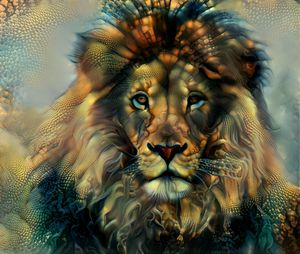 Magical Staring Lion