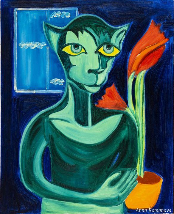 Green Cat - AR_Gallery