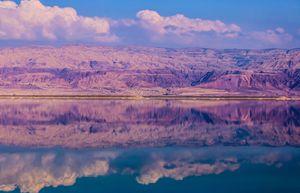 Jordan mountains and the Dead Sea