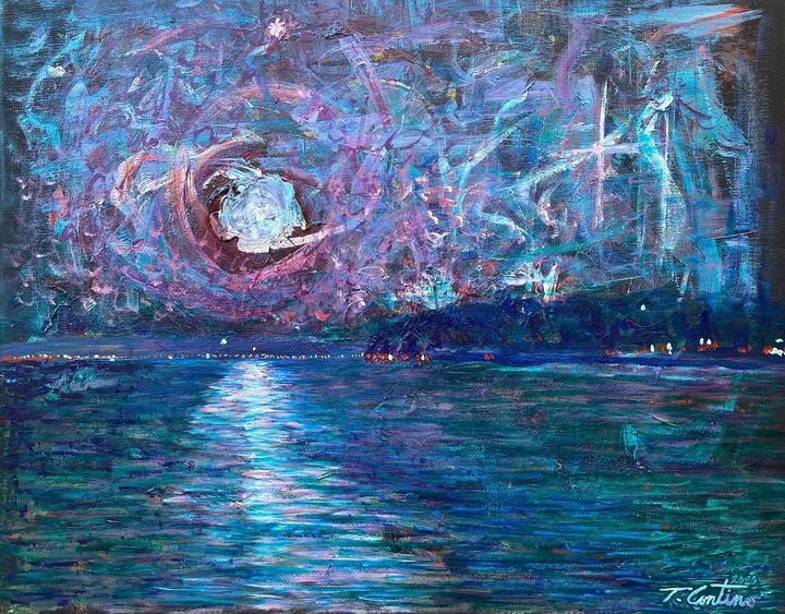 Flare Night in Henderson Harbor - Thomas Contino