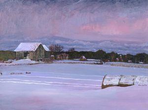 Old Barn in Belleville, Winter