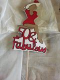 50 and fabulous cupcake/cake toppers