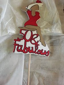 50 and fabulous cupcake/cake topper