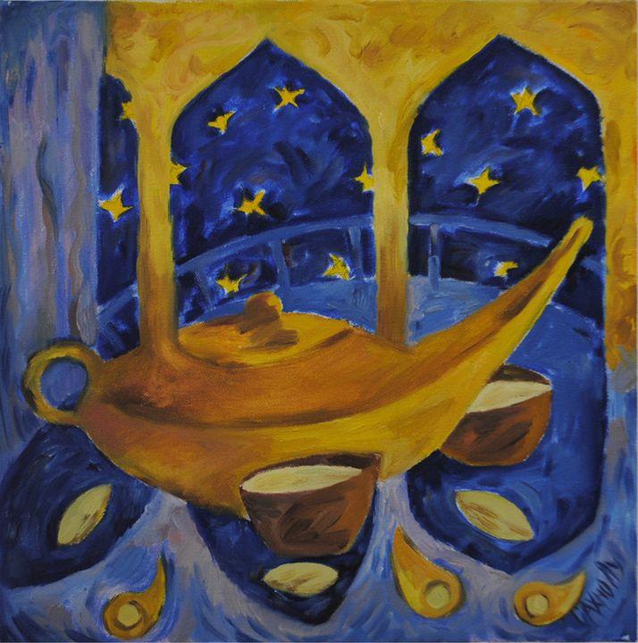 Pistachio tea - Lu Sakhno's Art Gallery