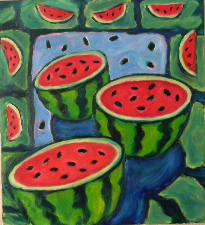Watermelon drum - Lu Sakhno's Art Gallery