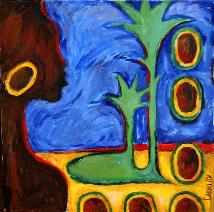 Oasis of coconuts - Lu Sakhno's Art Gallery