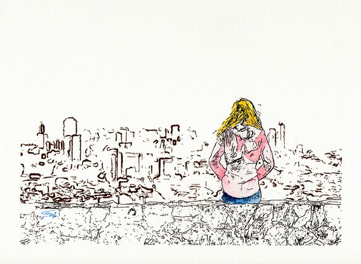 Girl watching the city - Carlos Segui