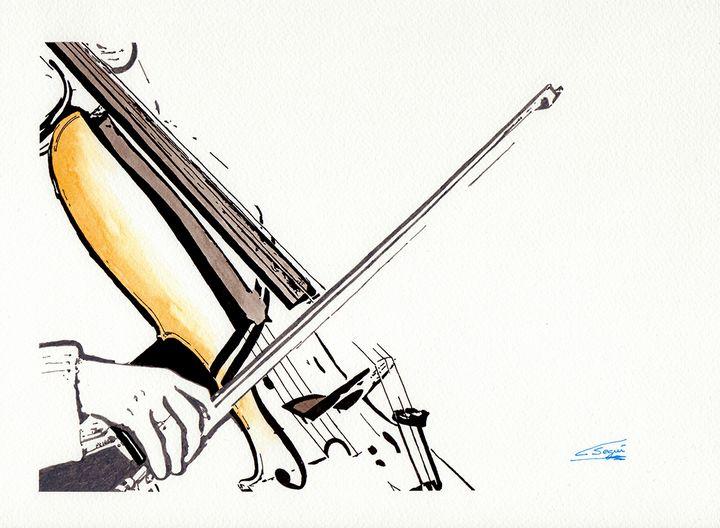 Playing the cello - Carlos Segui