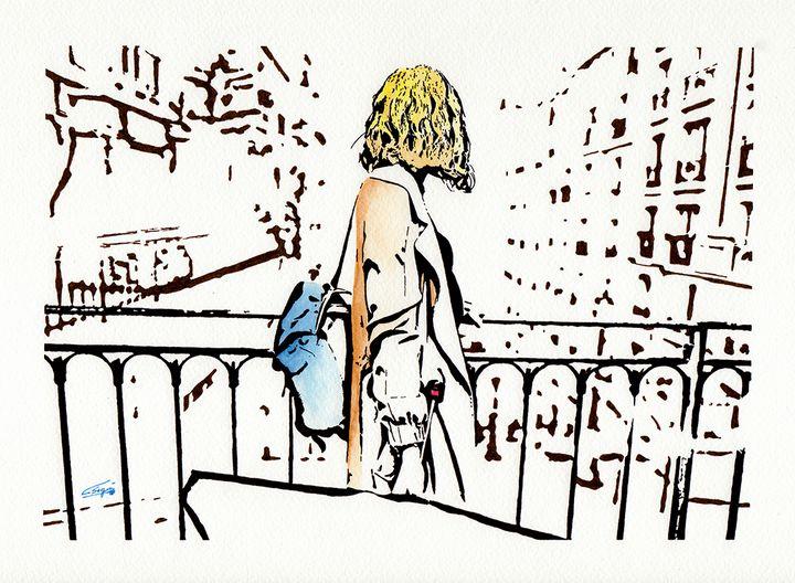 Woman in the city - Carlos Segui