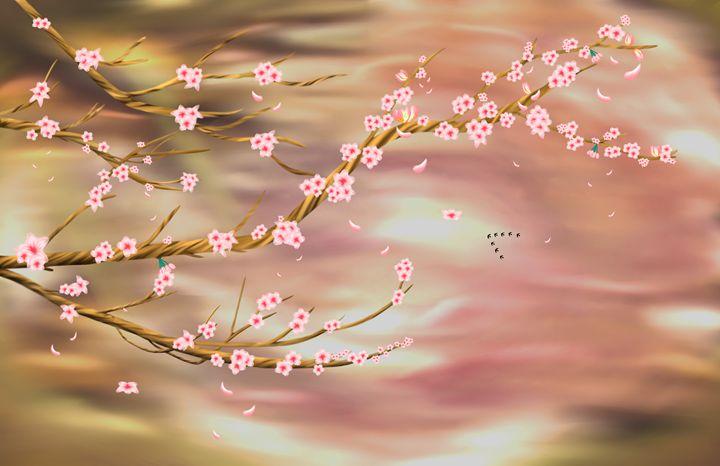 Cherry Blossoms - Liu Miranda