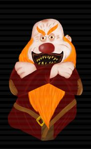 Clown Grumpy