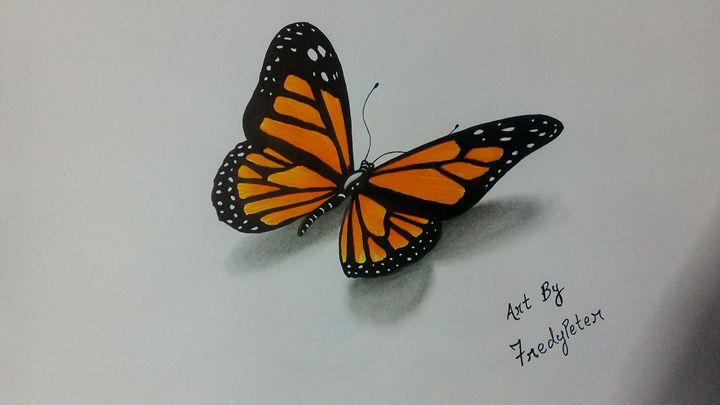 3D Butterfly - Fredy