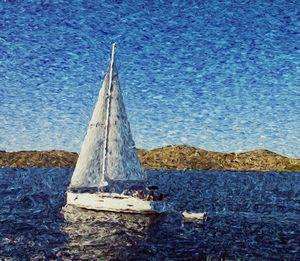 Sailng along islands