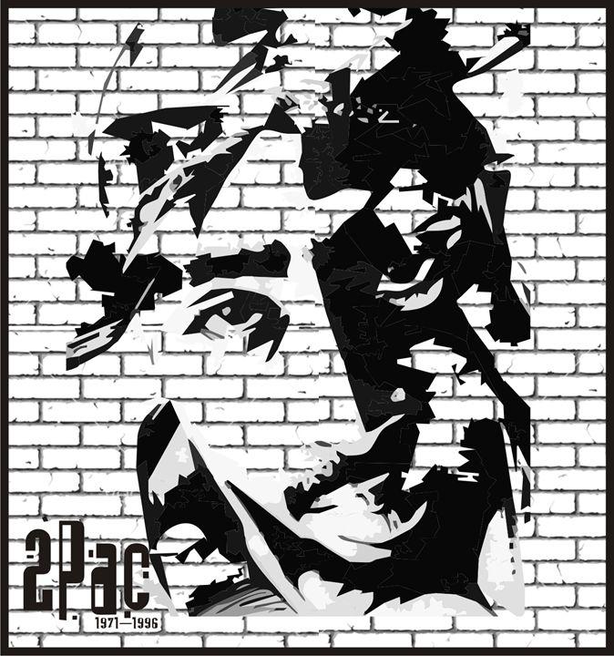 Tupac Shakur - Designs by Johnny Praize