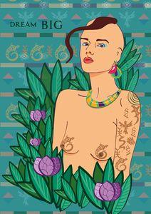Amazon Princess Illustration