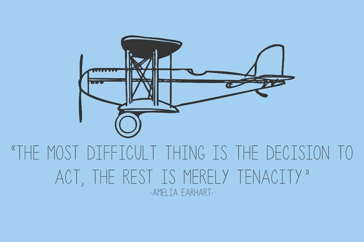 Amelia Earhart Quote - Relax, You've Found My Gallery.